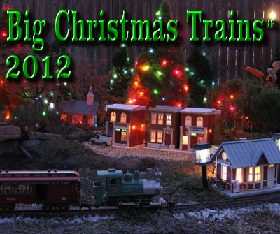 Big Christmas Trains. This photo is of one of Paul's Large Scale Christmas trains running outside in November, 2008 for a special public event.