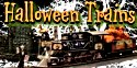 Spooky collectible trains and towns for October fun.