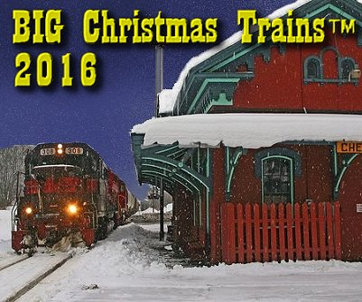 Big Christmas Trains. Adrianne Wood took this photo of a real 'Christmas train' in Vermont.