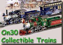 Click to see the remaining Hawthorne Village On30 train collections.