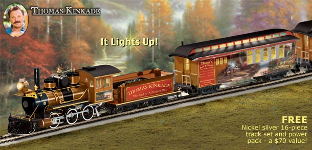 Thomas Kinkade End Of A Perfect Day Express Train Subscription Plan Click For Bigger
