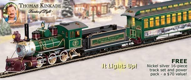 Thomas Christmas Train Set.Thomas Kinkade Christmas Train And Accessories