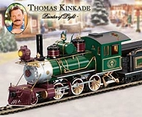 Thomas Kinkade Christmas Express HO Scale Train Subscription Plan. Click for bigger picture