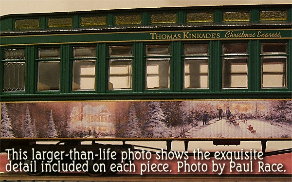 ... This detail of a coach from the original Thomas Kinkade Christmas Express shows the fine artwork