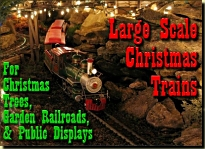 Click to see the biggest commercially available Christmas model trains you can buy.