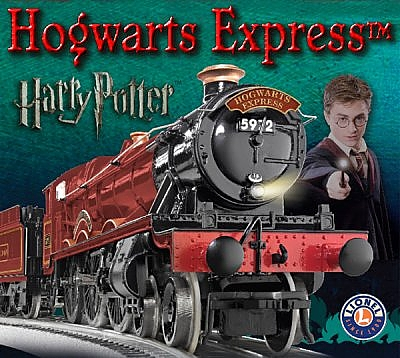Lionel's O Gauge Hogwarts Express train set and accessories.