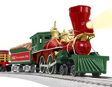 lionel coca cola 125th anniversary vintage steam o gauge train set