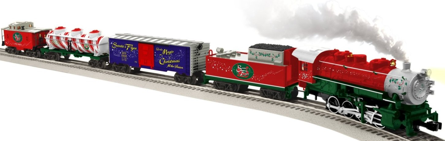 lionel santas flyer ready to run train set