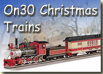 Click to see Bachmann's On30 Christmas trains.