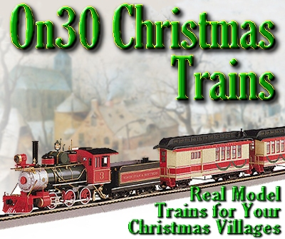 On30 Model Railroad Equipment for Christmas Villages