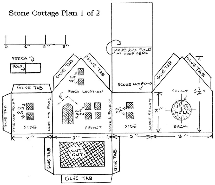 Building a vintage style cardboard stone cottage for Stone cottages plans